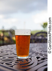 Craft Brew Pint Glass - Craft brew amber ale in a pint glass...