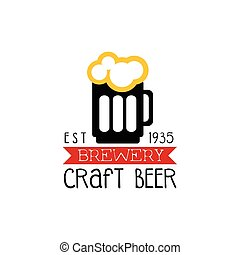 Craft Brewery Logo Design Template