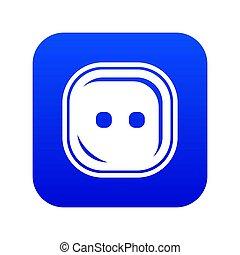 Craft button icon blue