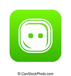 Craft button icon green