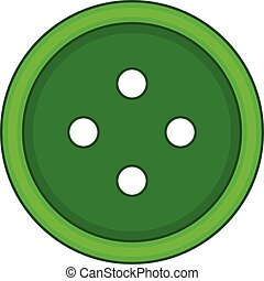 Craft cloth button icon, cartoon style