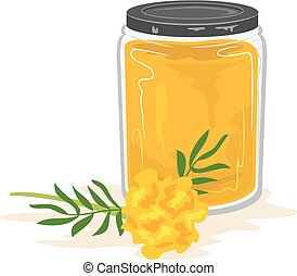 Craft Dye Container Marigold Illustration - Illustration of...