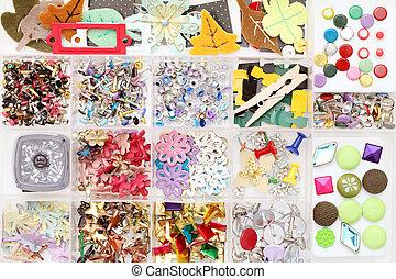 Craft materials in a box