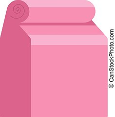 Craft paper bag icon, flat style