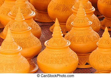 Craft pottery in Thailand