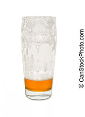 Craft Pub Glass with Thee-Quarter Empty Glass