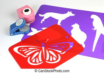 Craft Stencils - Craft stencils and cutters