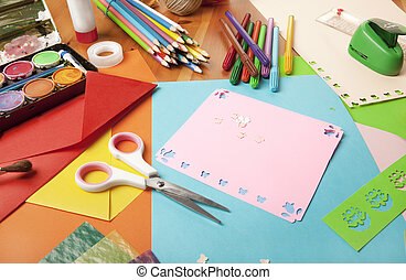 Craft table stencils and various u