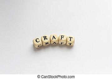Craft Word with Wooden Alphabet Blocks