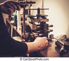 crafting, hilfe, metall, mill., rollen, kostbar,...
