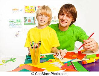 crafting, ojciec, syn
