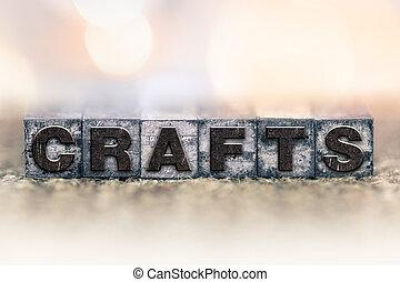 Crafts Concept Vintage Letterpress Type