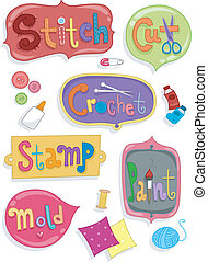 Crafts Labels - Illustration of Ready to Print Labels...