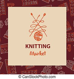 Crafts Market Knitting With Love Element Of Corporate Identity Banner Card For