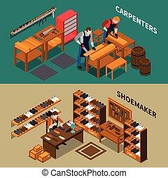 Craftsman Isometric Banners