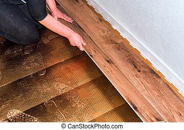 Craftsman laid laminate, vinyl laminate or wood laminate
