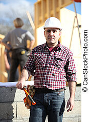 craftsman on a construction site