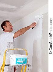 craftsman painter working