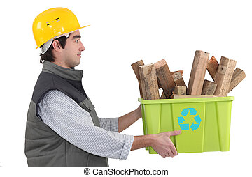 craftsman recycling wood