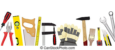Craftsman tools isolated on white - Various craftsman tools...
