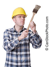 Craftsman with brush