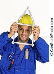 craftsman with helmet