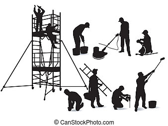 Craftsmen and scaffolding