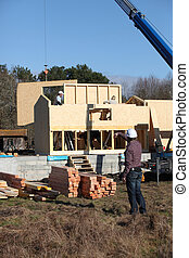 craftsmen on a construction site