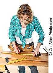 craftwoman at work