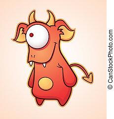 Crafty Cartoon Devil - Cartoon Character