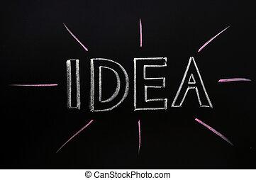 craie, écrit, idée