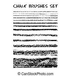 craie, brushes., ensemble