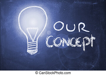 craie, concept, conception, lightbulb, business