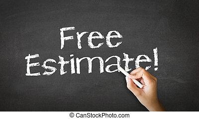 craie, estimation, gratuite, illustration