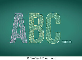 craie, tableau noir, abc, lettres
