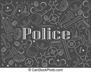 craie, vecteur, police