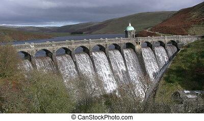 Craig Goch reservoir. - Craig Goch reservoir full and...