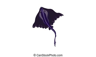 Cramp fish icon animation best on white background for any design