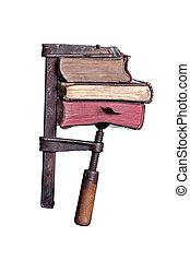 crampon, livres, vieux