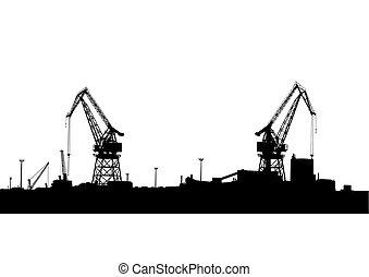 Cran in seaport two