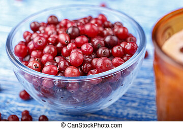 cranberries in a plate on the table