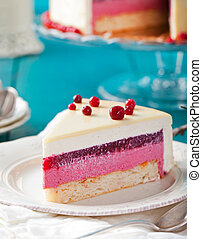 Cranberry, bilberry tart, mousse cake, cheesecake -...