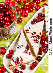 Cranberry bliss bar