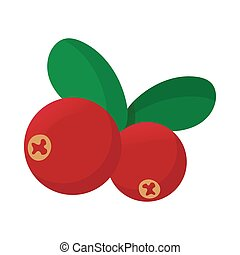 Cranberry icon, cartoon style
