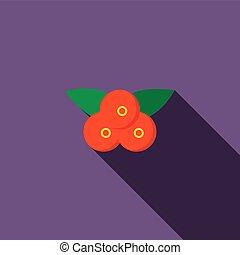 Cranberry icon, flat style