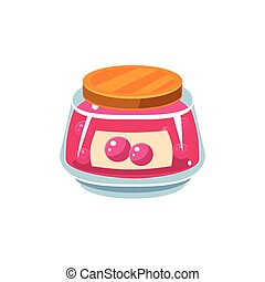Cranberry Jam  In Transparent Jar