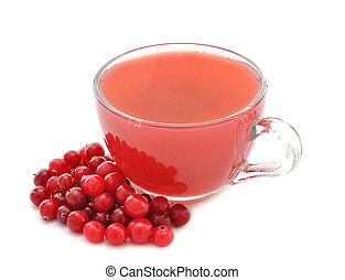 cranberry juice Isolated on white background