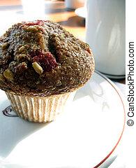 Cranberry Muffin - Whole wheat, cranberry muffin with a mug ...