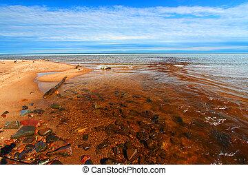 Cranberry River Beach Michigan