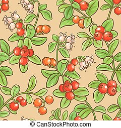 cranberry seamless pattern